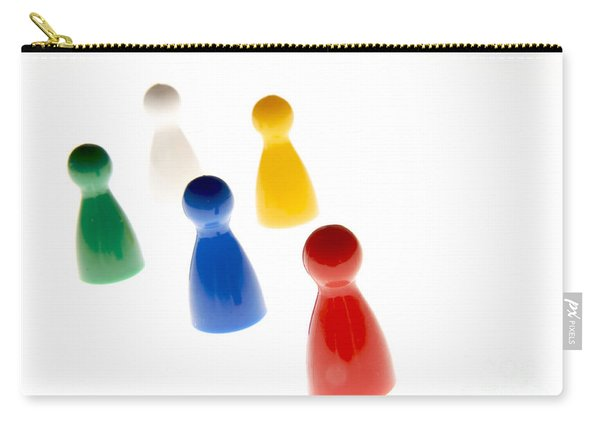 Game Pieces In Various Colours Carry-all Pouch