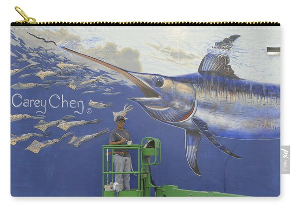Gray Taxidermy Mural Carry-all Pouch