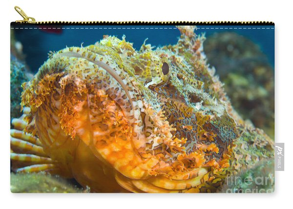 Papuan Scorpionfish Lying On A Reef Carry-all Pouch