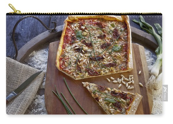 Pizza With Herbs Carry-all Pouch