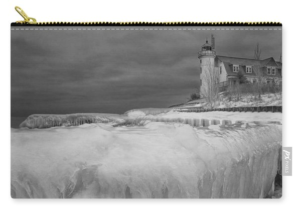 Point Betsie Lighthouse In Winter Carry-all Pouch