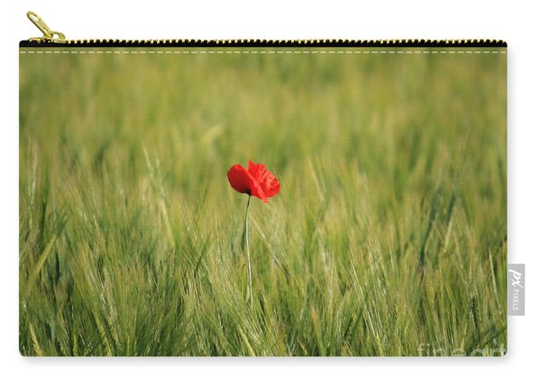 Red Poppy In Field  Carry-all Pouch