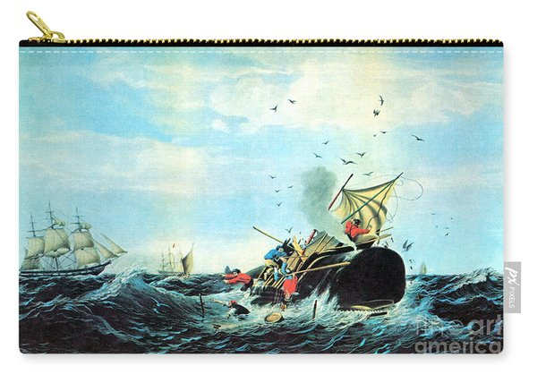 The Whale Fishery, 19th Century Carry-all Pouch