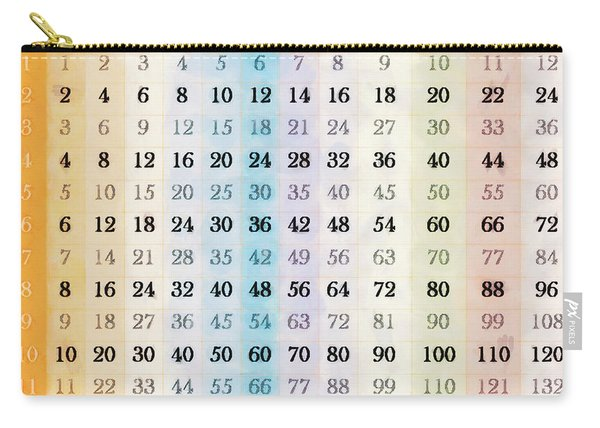 1 To 12 Times Tables Chart Carry-all Pouch