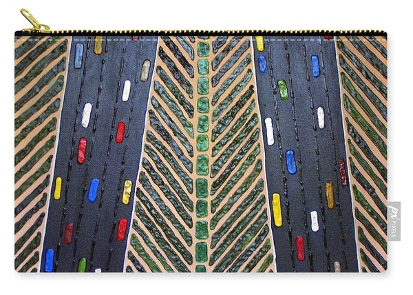 Carry-all Pouch featuring the mixed media Traffic by Cynthia Amaral