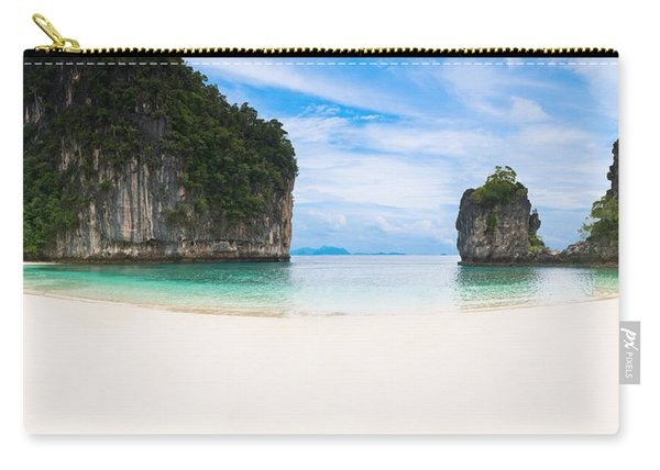 White Sandy Beach In Thailand Carry-all Pouch