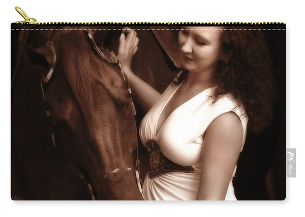 Woman And Horse Carry-all Pouch