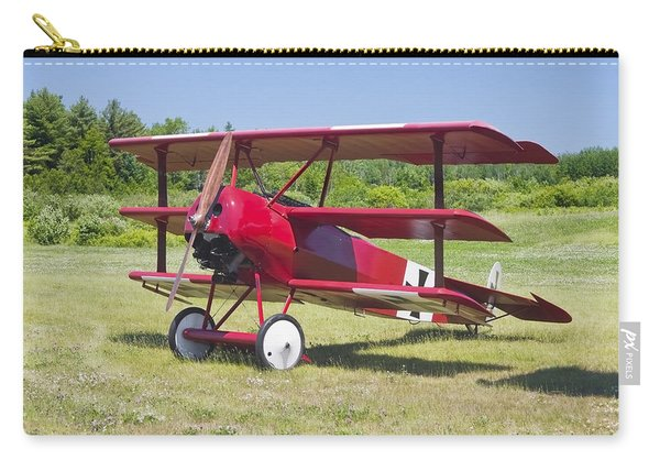1917 Fokker Dr.1 Triplane Red Barron Canvas Photo Print Poster Carry-all Pouch