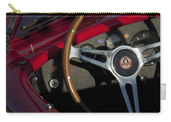 1965 Ac Cobra Steering Wheel 3 Carry-all Pouch