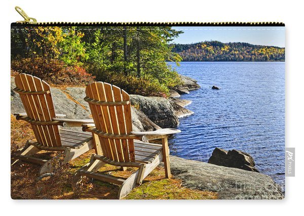Adirondack Chairs At Lake Shore Carry-all Pouch