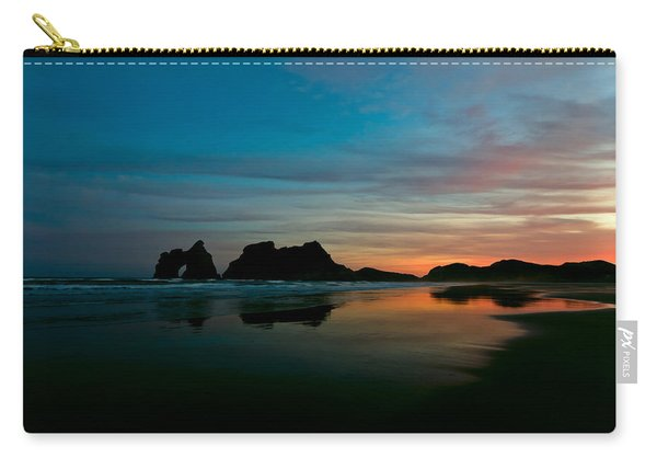 Golden Morning At A Beach  Carry-all Pouch