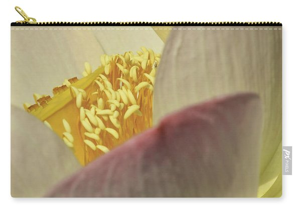 Nelumbo 'pink And Yellow' Carry-all Pouch