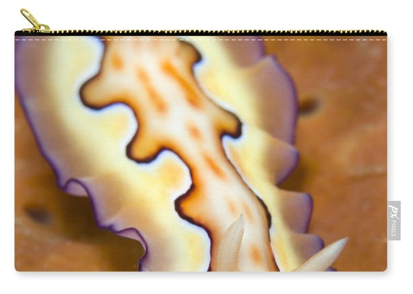 Nudibranch On Orange Sponge, Kimbe Bay Carry-all Pouch