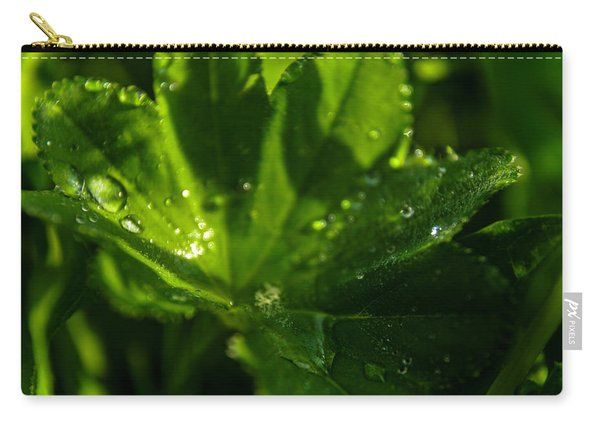 Aquilegia  With Dew Drops Carry-all Pouch