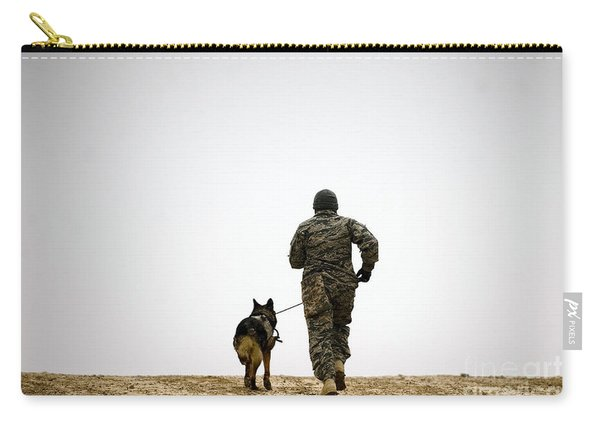 A Dog Handler And His Military Working Carry-all Pouch