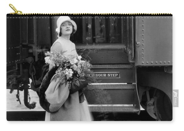 Silent Film Still: Trains Carry-all Pouch
