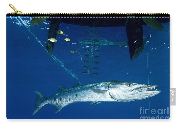 A Great Barracuda Beneath A Boat, Kimbe Carry-all Pouch