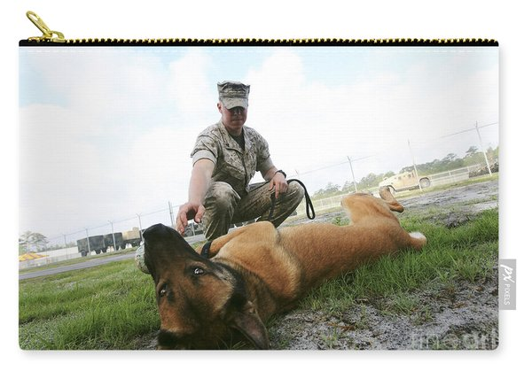 A Military Working Dog Handler Takes Carry-all Pouch