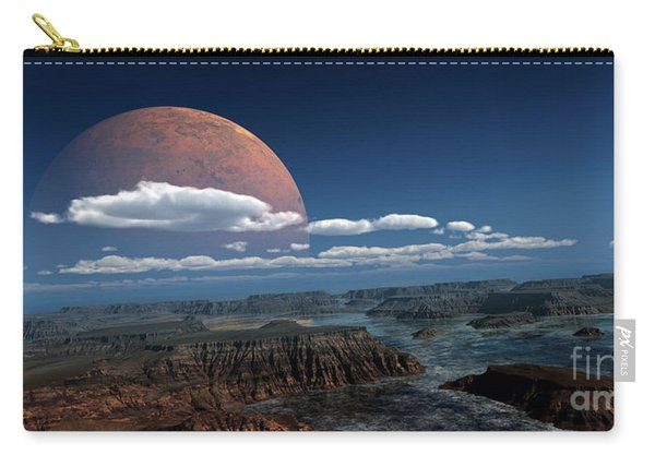 A Moon Rises Over A Young World Carry-all Pouch