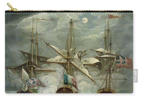 A Moonlit Battle Scene Carry-all Pouch