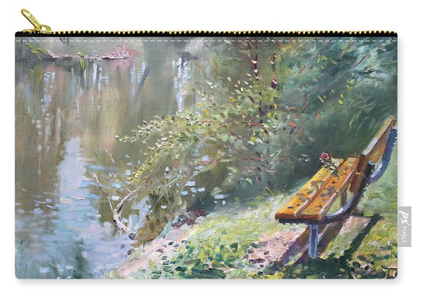 A Rose On The Bench Carry-all Pouch