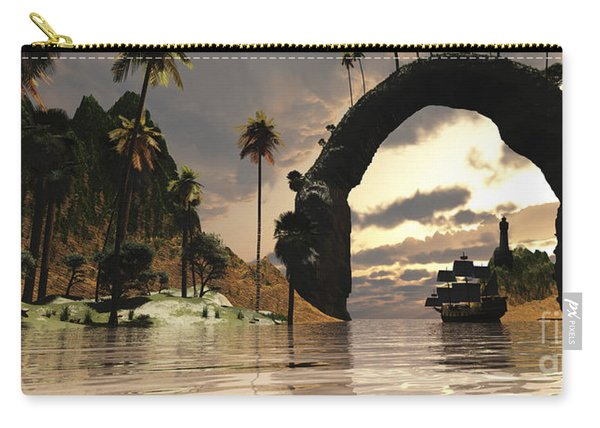 A Ship Sails Under The Entrance Carry-all Pouch