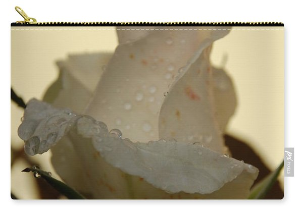 A Single White Rose Carry-all Pouch