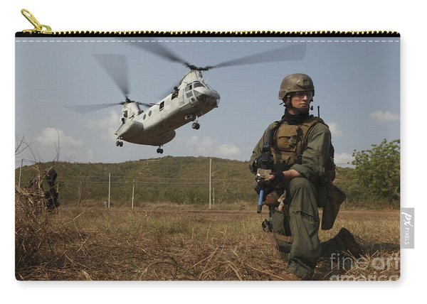 A U.s. Marines Provide Security Carry-all Pouch