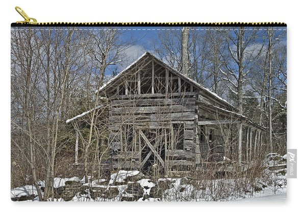 Abandoned House In Snow Carry-all Pouch
