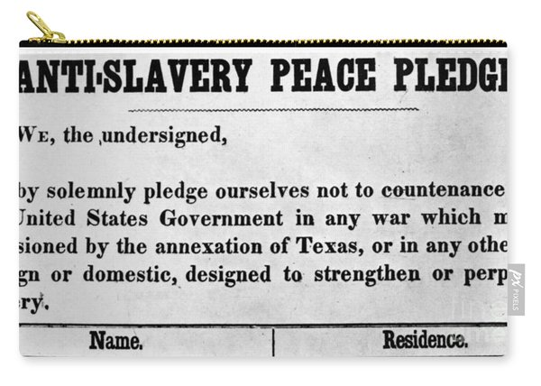 Abolitionist Peace Pledge Carry-all Pouch