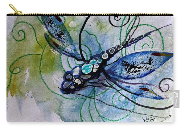 Abstract Dragonfly 10 Carry-all Pouch