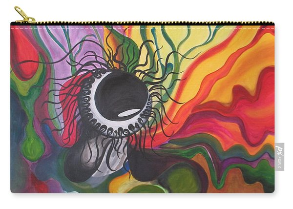 Abstract Underwater Anemone Carry-all Pouch