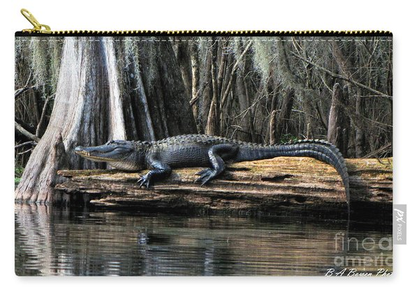 Alligator Sunning Carry-all Pouch