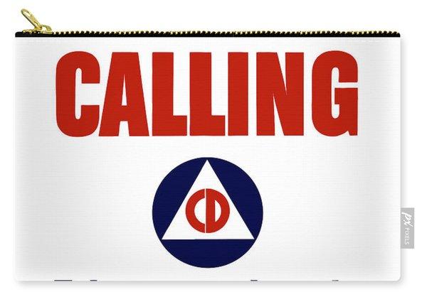 America Calling -- Civilian Defense Carry-all Pouch