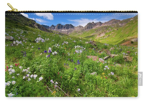 American Basin Wildflowers Carry-all Pouch
