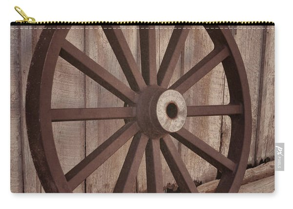 An Old Wagon Wheel Carry-all Pouch