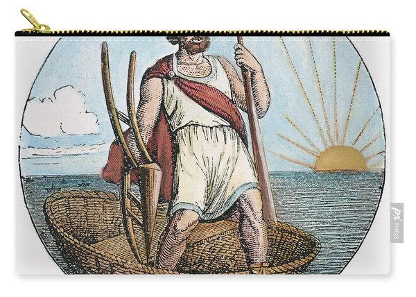 Ancient Briton And Coracle Carry-all Pouch