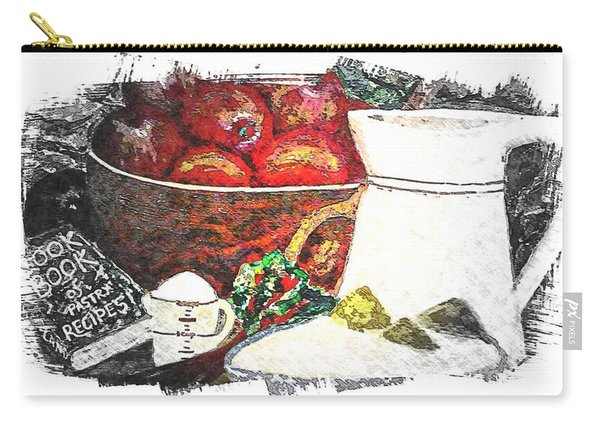 Apple And Rhubarb Pie Carry-all Pouch