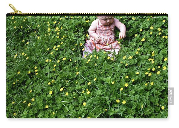 Baby In A Field Of Flowers Carry-all Pouch
