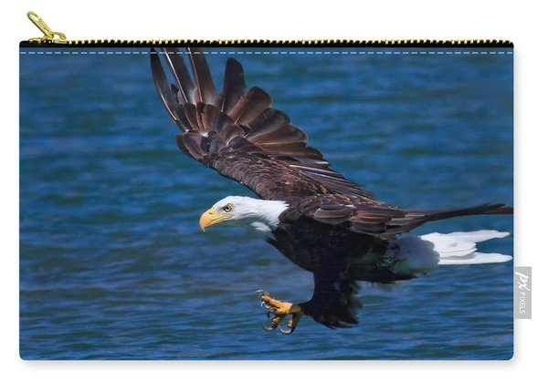 Bald Eagle On The Hunt Carry-all Pouch