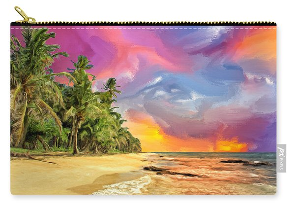 Bali Beach Sunset Carry-all Pouch