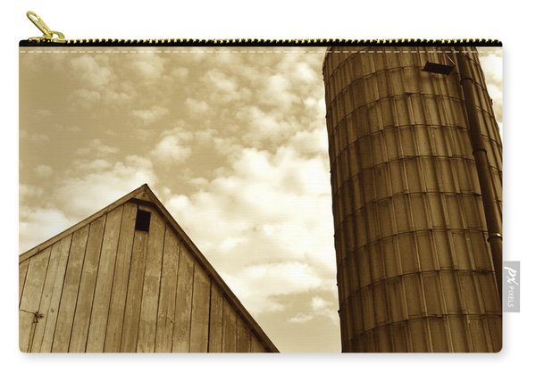 Barn And Silo In Sepia Carry-all Pouch