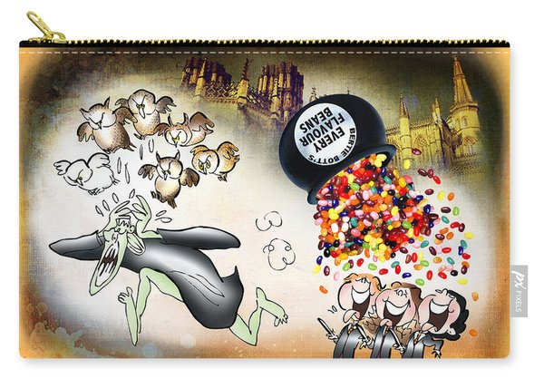 Carry-all Pouch featuring the digital art Bertie Bott's Beans by Mark Armstrong