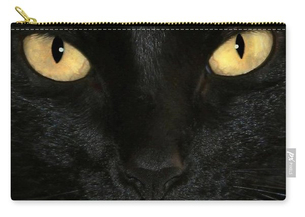 Black Cat Halloween Card Carry-all Pouch