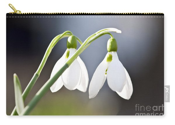 Blooming Snowdrops Carry-all Pouch