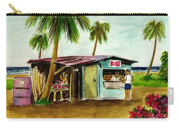 Blue Beach Shack Los Pinones Puerto Rico Carry-all Pouch
