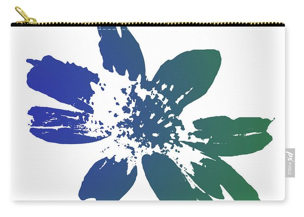 Blue In Bloom Carry-all Pouch