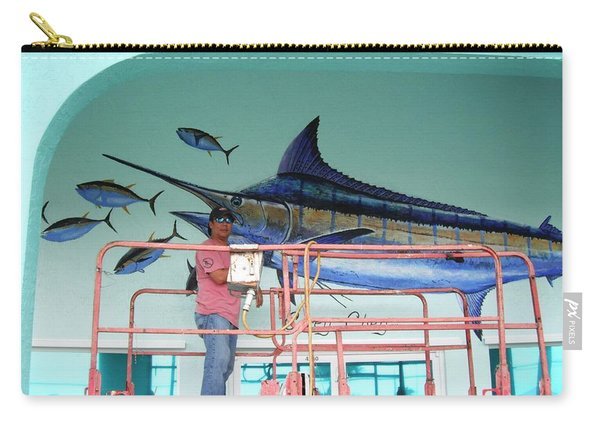 Blue Marlin Motors Mural Carry-all Pouch