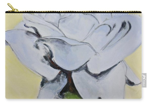 Carry-all Pouch featuring the painting Blue Rose-3-posthumously Presented Paintings Of Sachi Spohn  by Cliff Spohn