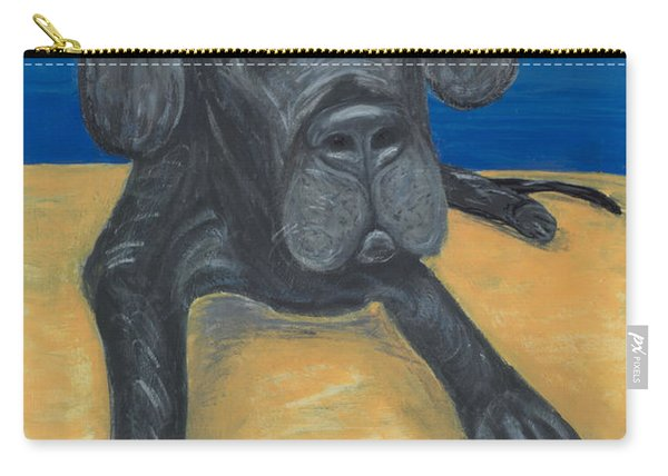 Blue The Great Dane Pup Carry-all Pouch